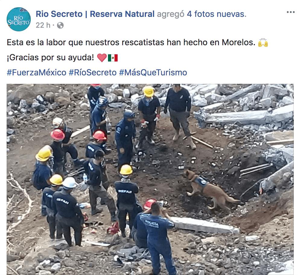 rio secreto sismo mexico 2017