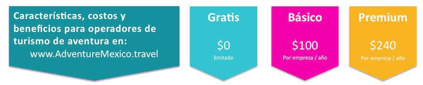 perfil gratis, básico y premum operador turrismo aventura mexico
