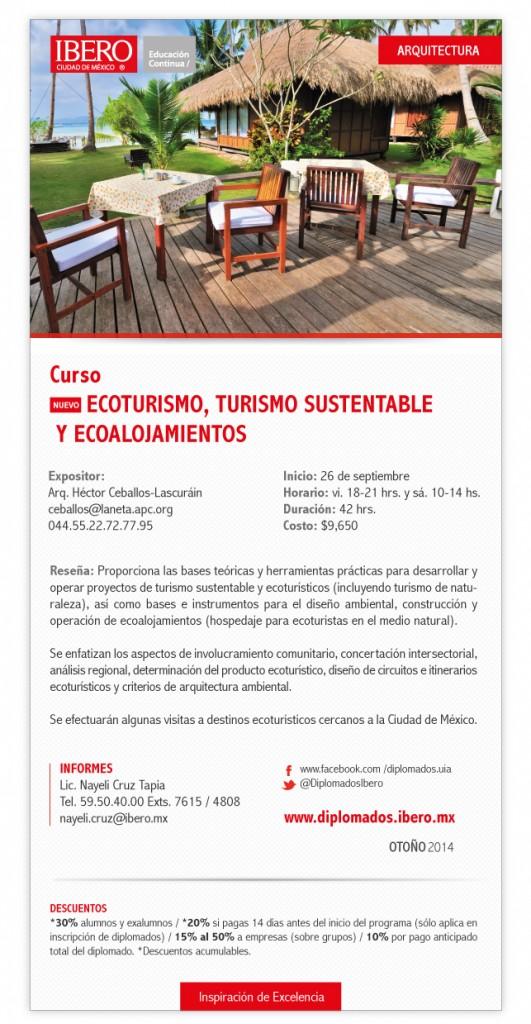 universidad ibero curso ecoturismo y ecoalojamientos