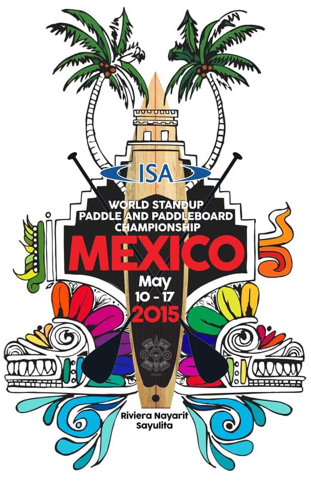 logo campeonato mundial ISA standup paddle sayulita mexico 2015