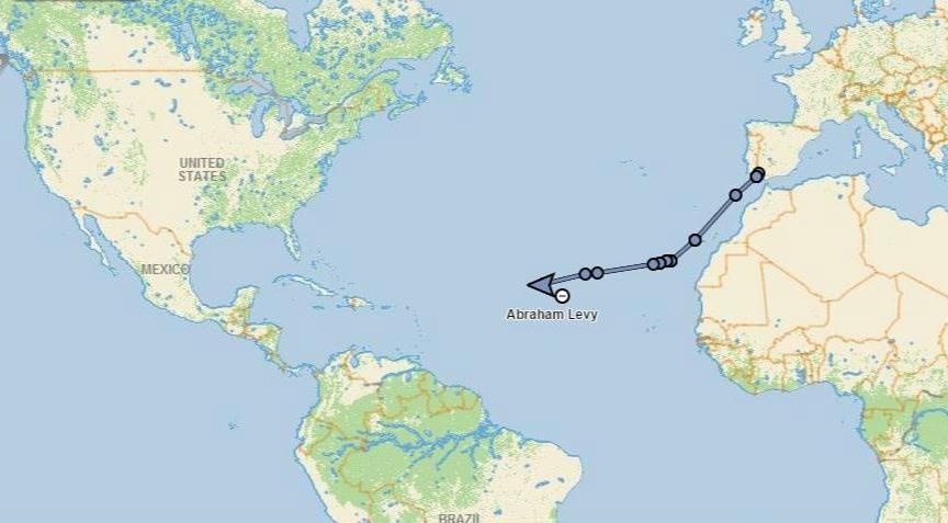 Abraham Levy sale de España a Cancun a remo