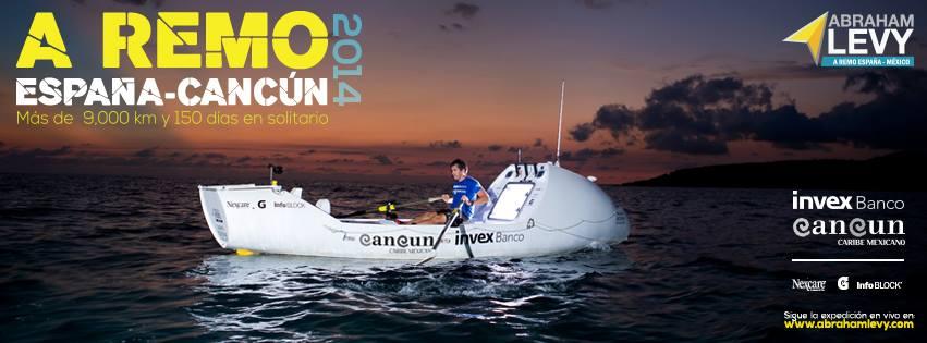 Abraham Levy Cruza Atlantico a Remo Espana Cancun Mexico