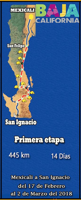 primera etapa ruta del misionero