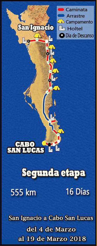 segunda etapa ruta del misionero
