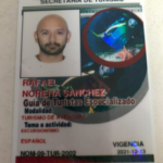 credencil SECTUR guia especializado NOM-09 Rafael Noreña Sánchez