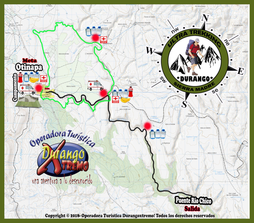 ultra trekking durango ruta