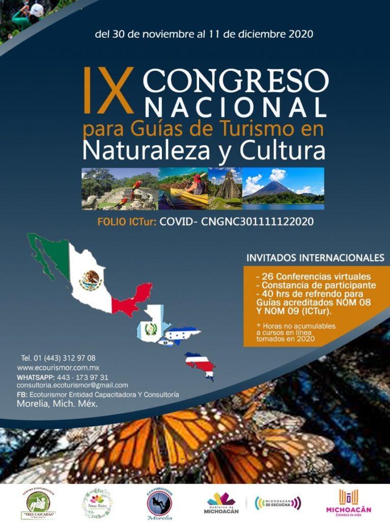 IX congreso nacional de guias de naturalea 2020 morelia michoacan